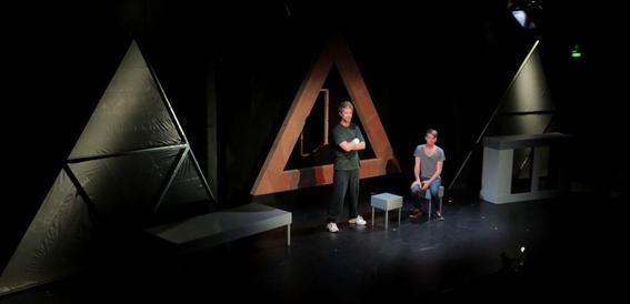 Simon Lyndon and Martin Broome in Anaconda at Bondi Pavillion 2013. Lighting Design by Toby K