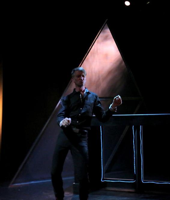 Martin Broome in Anaconda at Bondi Pavillion. Lighting Design by Toby K.