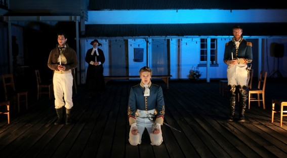 Damien Strouthos, Barry French, Chris Stalley and Robert Jago in Much Ado About Nothing