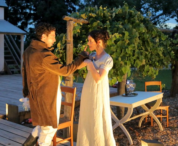 Damien Strouthos and Francesca Savige in Much Ado About Nothing