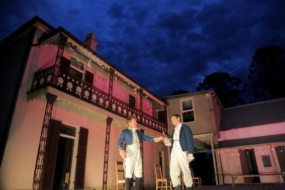 Julian Garner and Scott Sheridan in Much Ado About Nothing