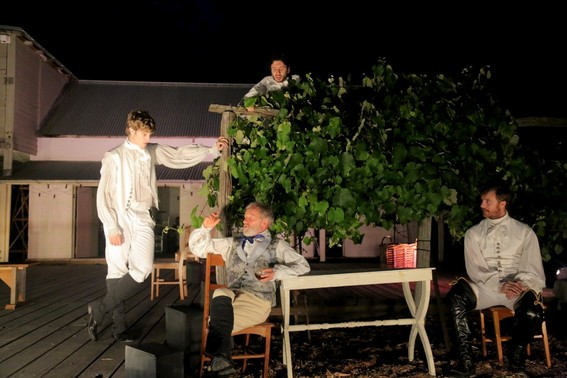 Chris Stalley, John Turnbull, Tim Walter and Robert Jago in Much Ado About Nothing