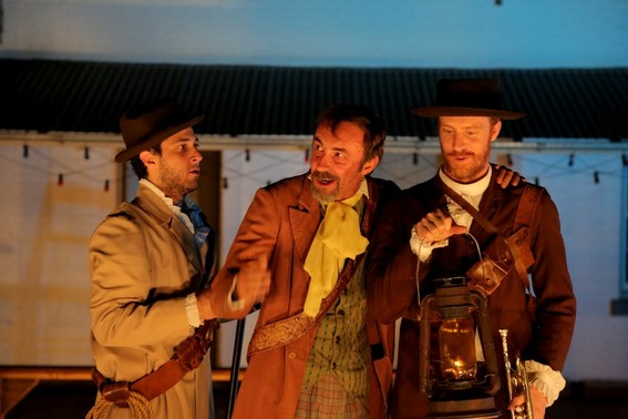 Damien Strouthos, James Lugton and Robert Jago in Much Ado About Nothing
