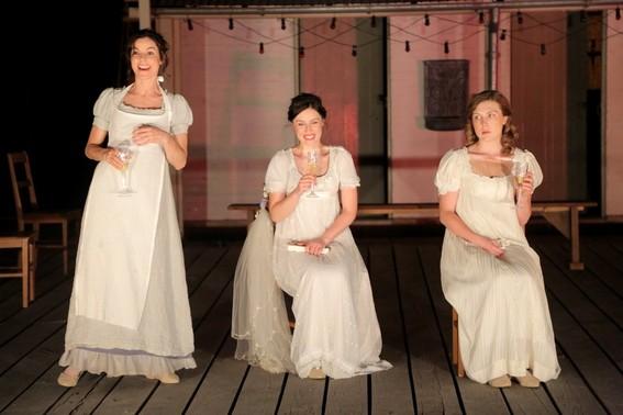 Francesca Saviga, Madeleine Jones and Matilda Ridgway in Much Ado About Nothing