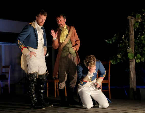 Robert Jago, James Lugton and Chris Stalley in Much Ado About Nothing