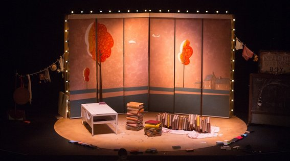 Incredible Book Eating Boy. Produced by CDP Theatre Producers. Lighting Design by Toby K.