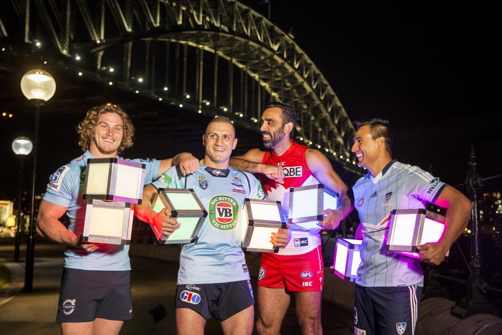Vivid sport launch shoot. Picture Credit James Horan/ Destination NSW