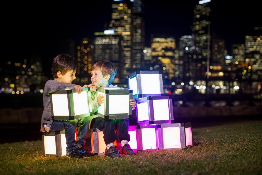 Vivid Sydney Children shoot. Picture Credit James Horan/ Destination NSW